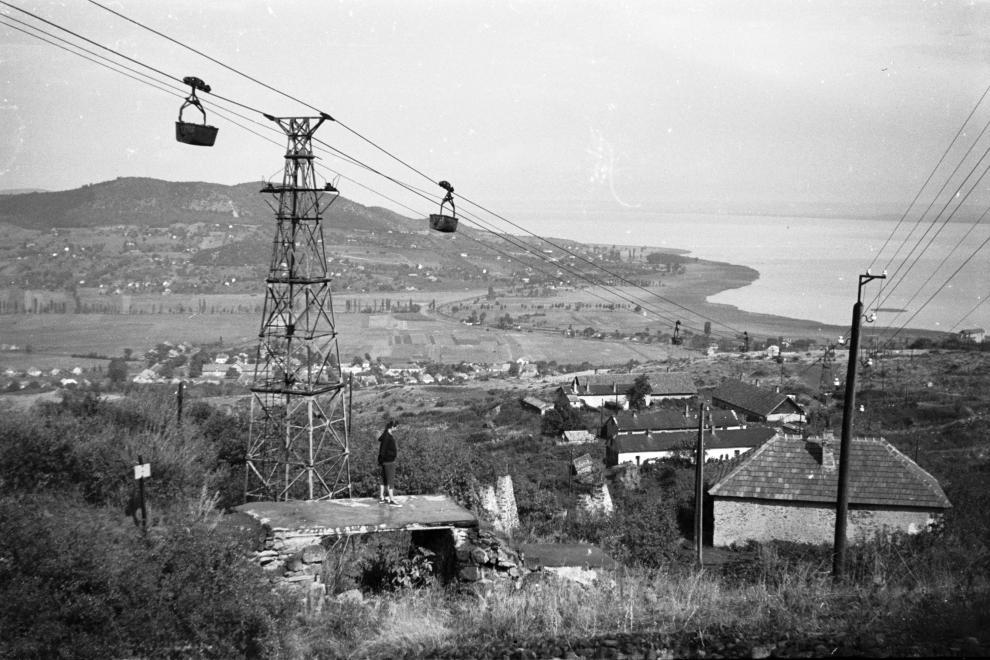 1959 Badacsonytomaj drótkötélpálya balatoni uszályrakodóhoz