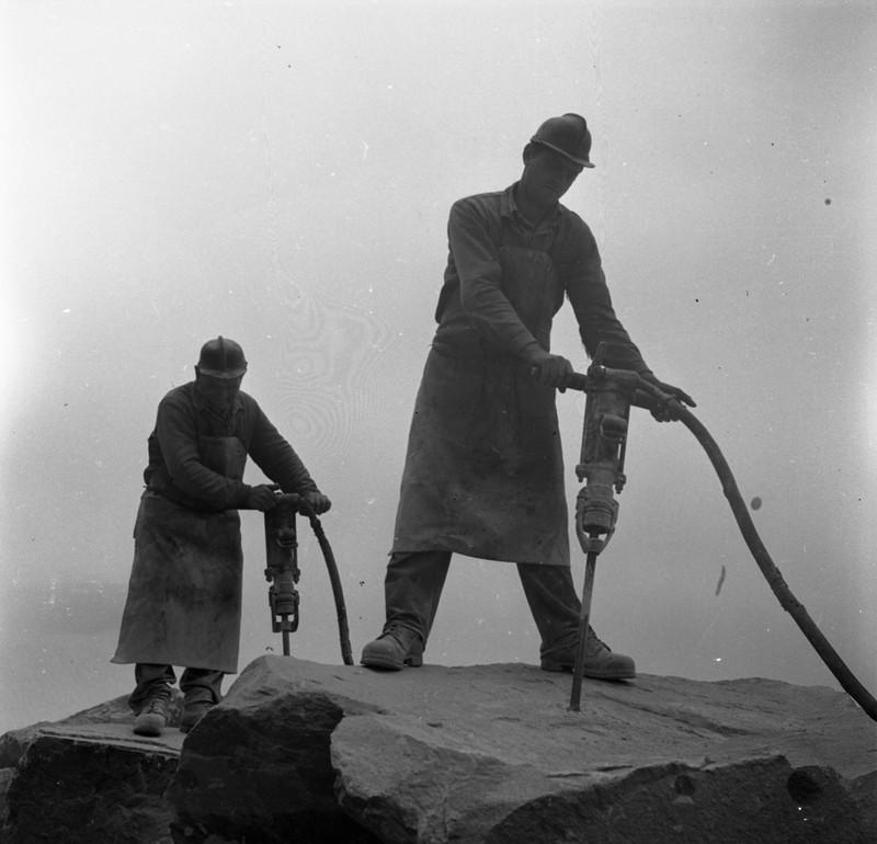 1970 Dunabogdány Csódi-hegy kőbányászat